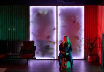 The Feather In The Web - Nick Coyle, dir Declan Greene, Set Design Brynna Lowan, Sound Design - Tom Backhaus. Photos courtesy of Pier Carthew